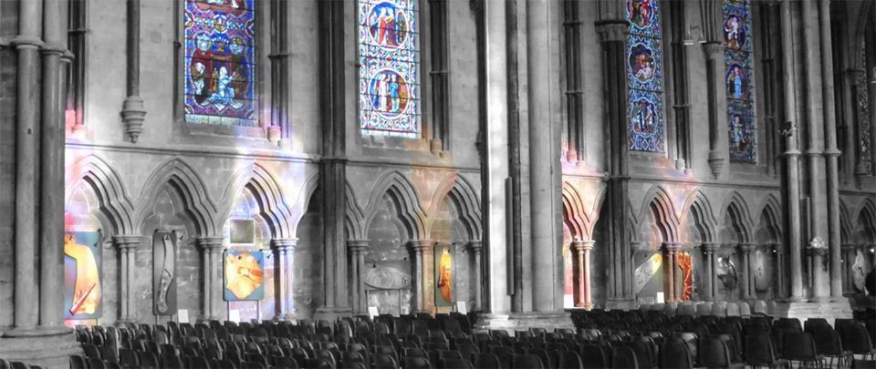 Lincoln Cathedral, stained glass, Forest Stations, William Fairbank