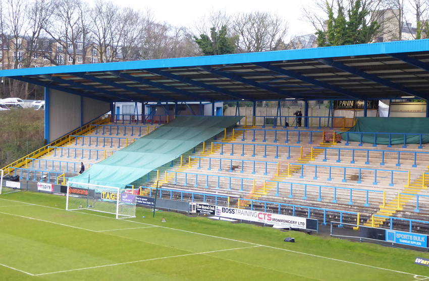 Halifax Town, north stand, unused, social distancing